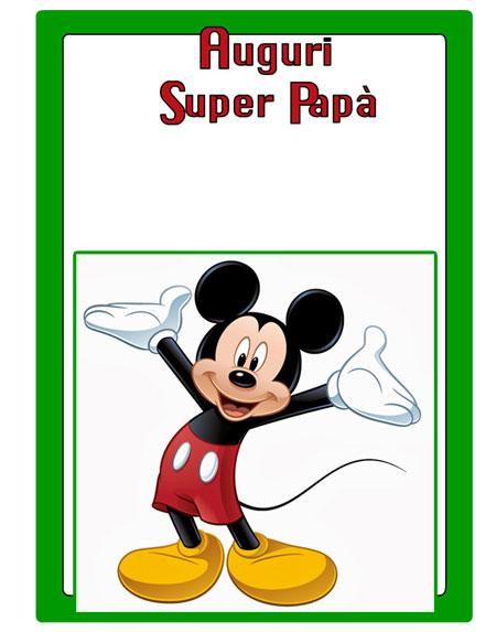 Assez Biglietti per la festa del papà da stampare GRATIS KQ38