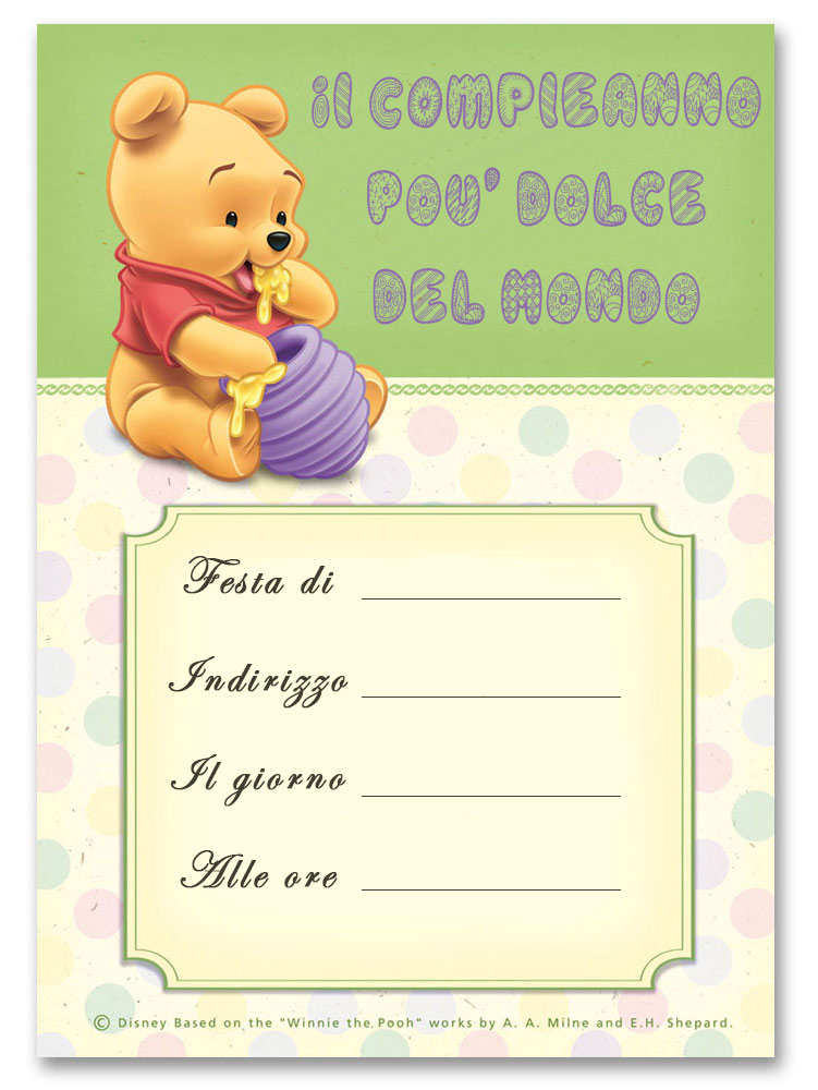 Top Inviti di compleanno per bambini da stampare GRATIS WQ53