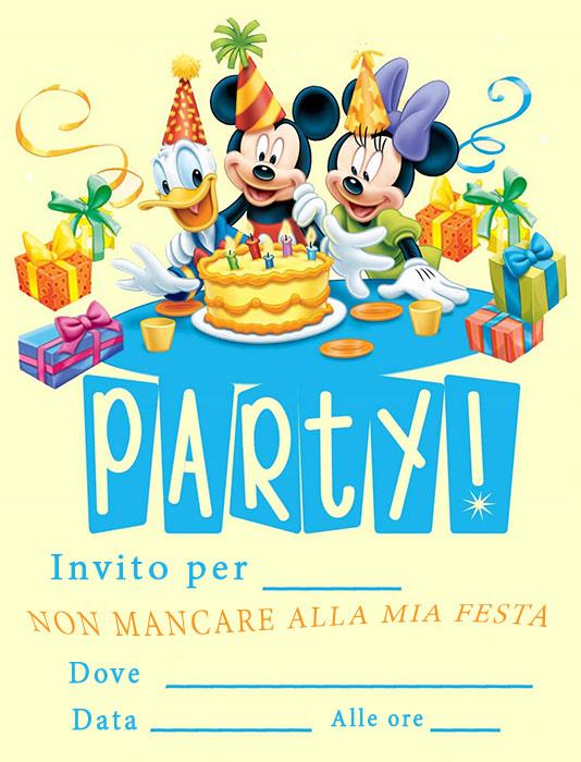 Top Inviti di compleanno per bambini da stampare GRATIS DV06