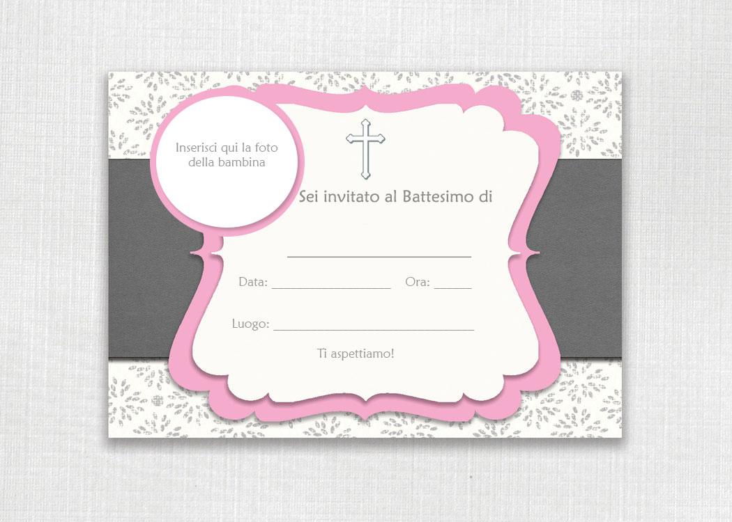Preferenza Biglietti e inviti Battesimo originali GRATIS da stampare VL05