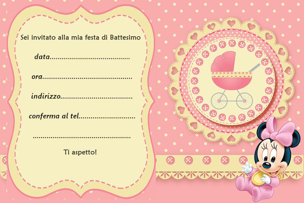 Bien connu Biglietti e inviti Battesimo originali GRATIS da stampare JM46