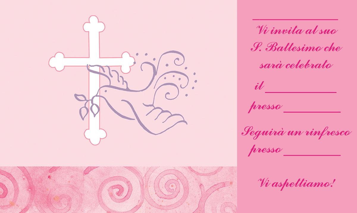 Top Biglietti e inviti Battesimo originali GRATIS da stampare XV56