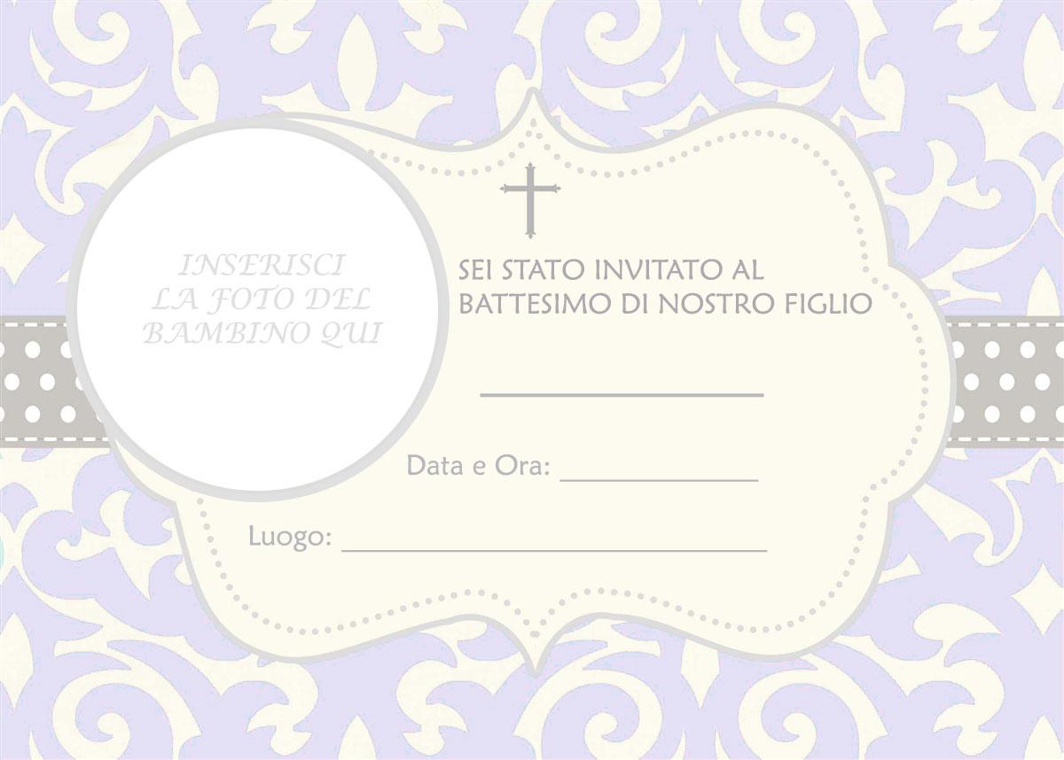 Célèbre Biglietti e inviti Battesimo originali GRATIS da stampare IE04