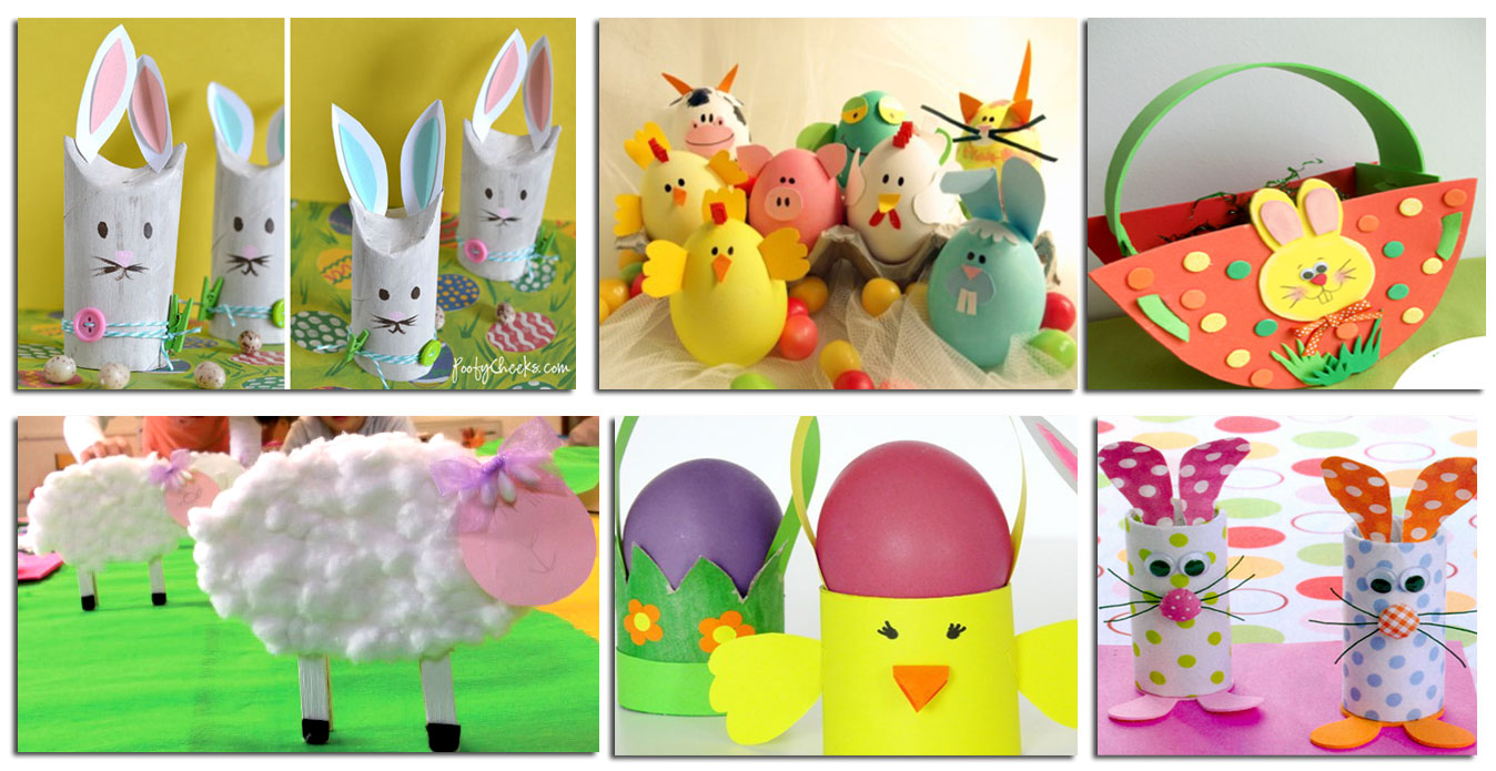Popolare Lavoretti di Pasqua per bambini fai da te QL05
