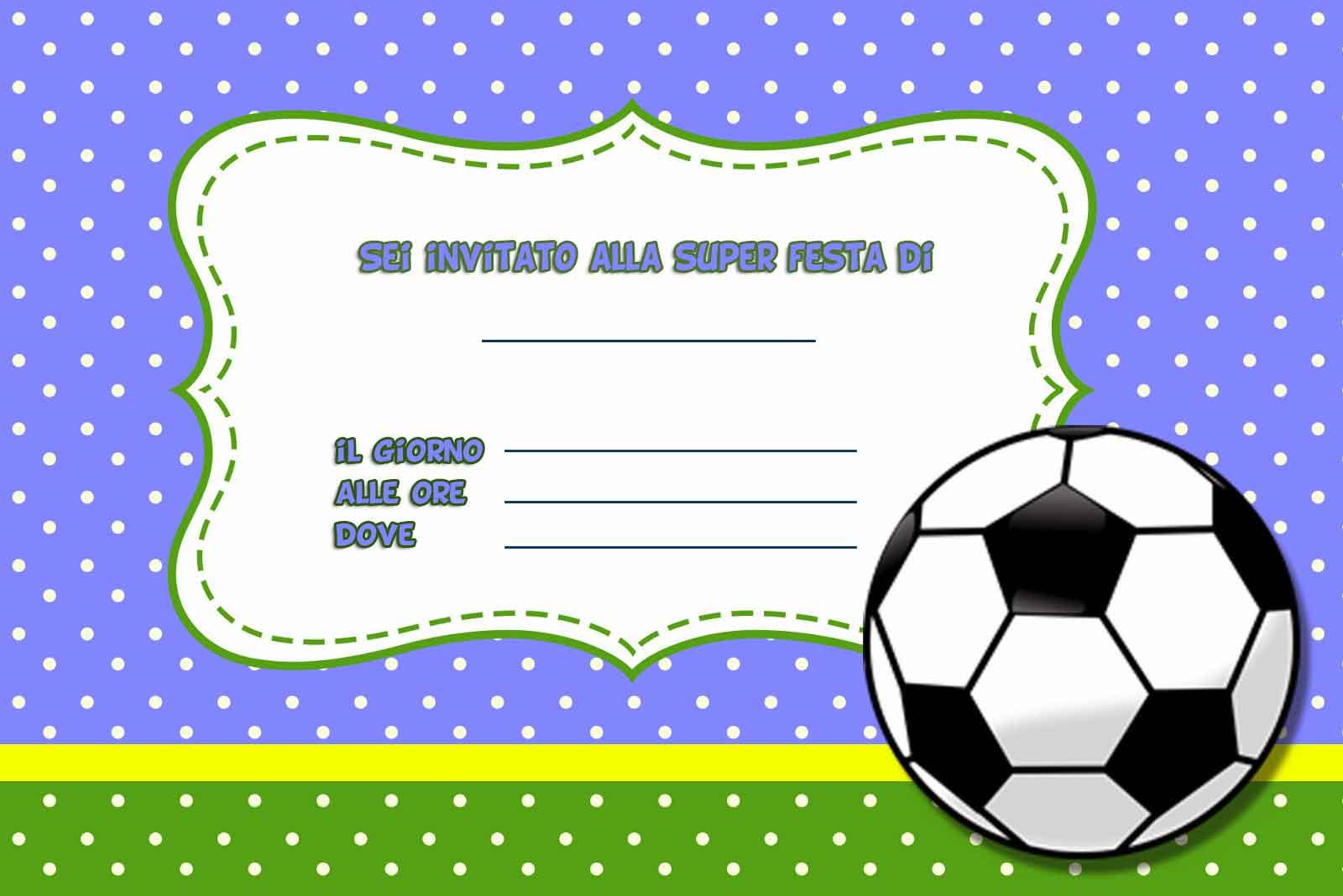 Inviti di compleanno per bambini da stampare gratis - Pagina da colorare di un pallone da calcio ...