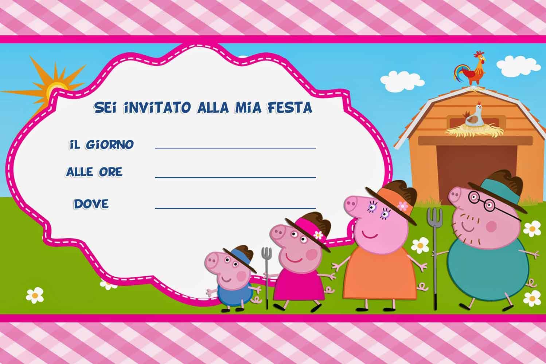 Invito di Compleanno di Peppa Pig   LIBRO MAGICO