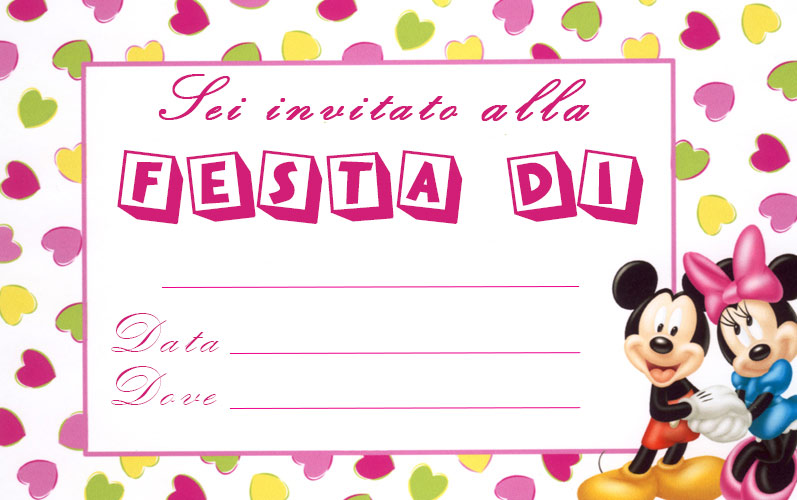 INVITI MINNIE DA SCARICA
