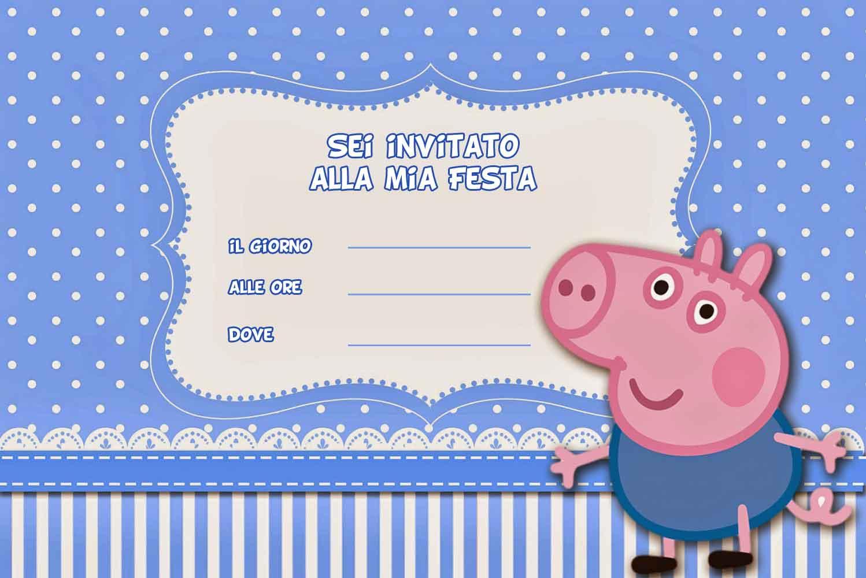 Invito Compleanno Peppa Pig   LIBRO MAGICO
