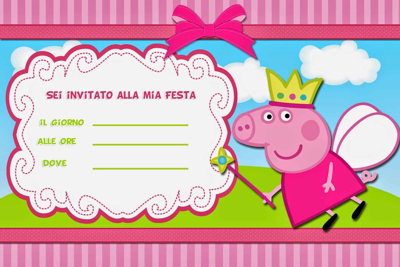 inviti compleanno peppa pig da